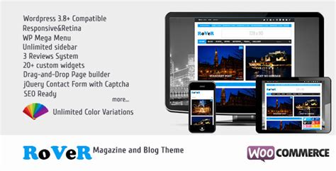 themeforest blog rover themeforest magazine blog wordpress theme