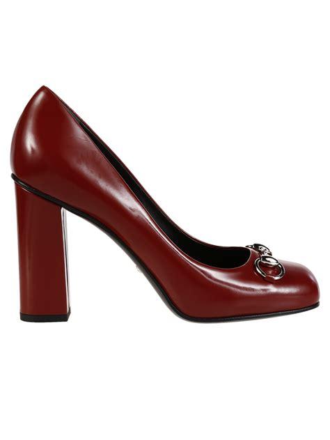 high heel loafer pumps gucci gucci polished leather horsebit loafer pumps