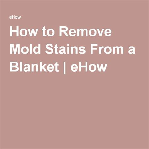How Do I Remove Stains From A Mattress by How To Remove Mold Stains From A Blanket Ehow Things