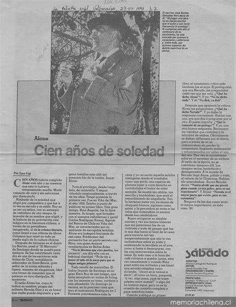 descargar libro cien anos de soledad en linea alone cien a 241 os de soledad memoria chilena biblioteca nacional de chile