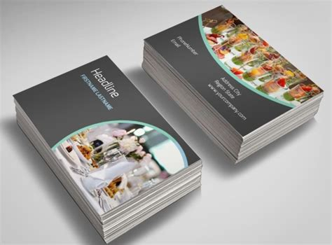 catering card template dining catering business card template