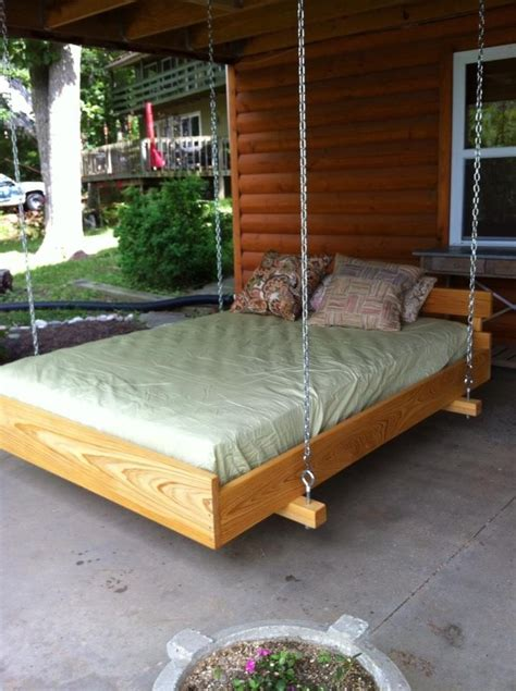 Cedar Wood Bed Frame Cypress Wood Frame Cedar Bed Slats All Lovingly Attached Underneath A Weather Proof Deck