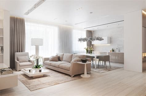 A Chic Pair Of Interiors With Natural Neutral Design Light Design For Home Interiors