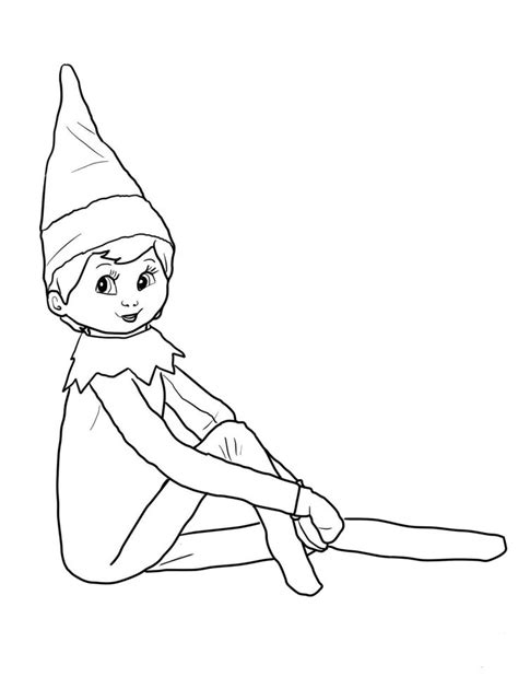 printable elf coloring picture 19 best elves images on pinterest coloring books