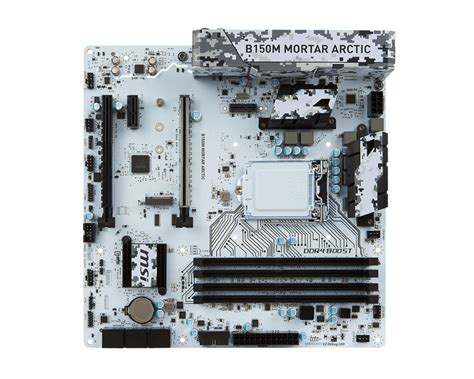 Msi B150m Mortar 1151 by Msi B150m Mortar Arctic White Lga 1151 Motherboard B150m
