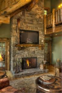 rustic fireplace for the home