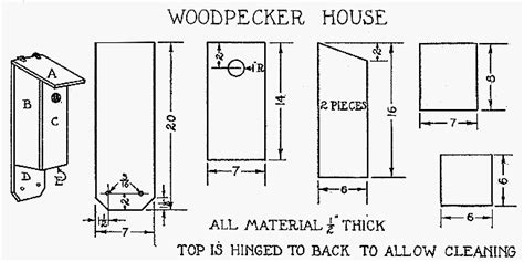 build a woodpecker house