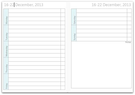 free printable daily planner pages 2016 free printable weekly on 2 pages calendar template 2016