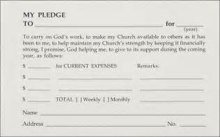 church pledge form template pledge and welcome cards one write company