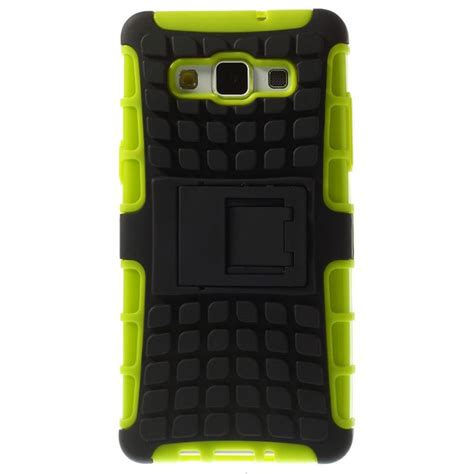 Ironman Samsung A5 2015 Series With Kick Stand samsung galaxy a5 2015 a5 duos 2015 anti slip hybrid deksel svart lime gr 248 n