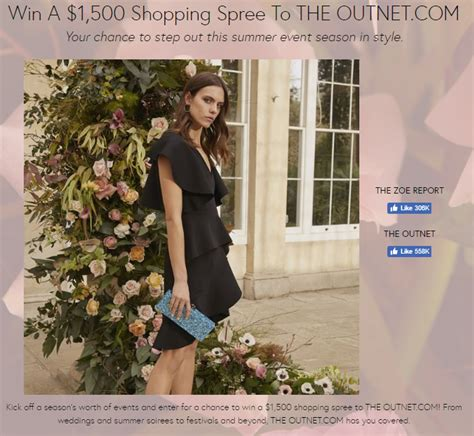 Free Shopping Spree Giveaway - the zoe report s the outnet shopping spree giveaway giveaway gorilla