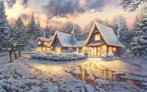 christmas wallpaper kinkade thomas kinkade christmas backgrounds wallpaper cave