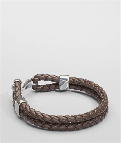 Bottega Bracelet bottega veneta ebano intrecciato oxidized silver nappa bracelet in brown for ebano lyst