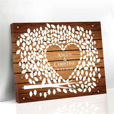 wedding canvas guest book wedding canvas guest book wood framed leaf tree with birds