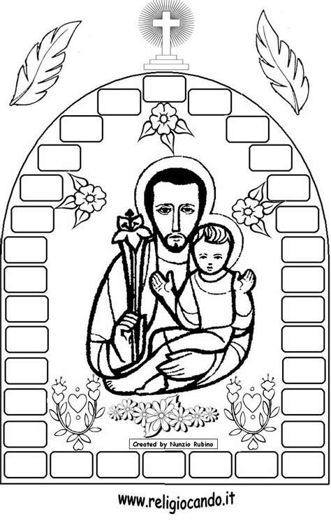 19 de marzo – Día de San José para pintar   Colorear imágenes