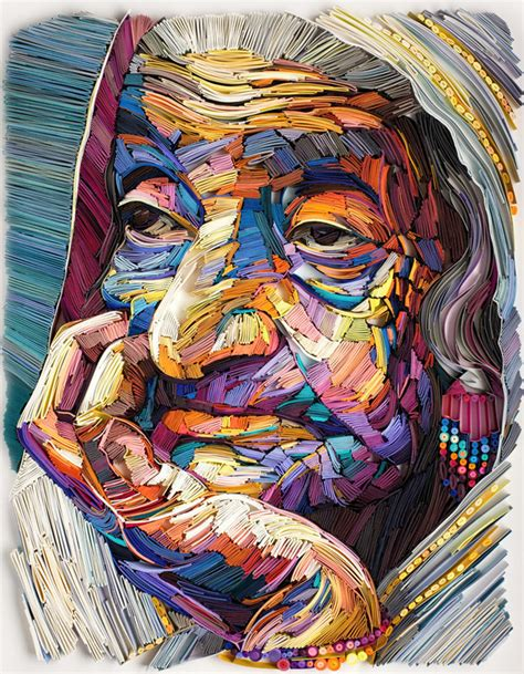 yulia brodskaya new multicolor quilled paper portraits by yulia brodskaya