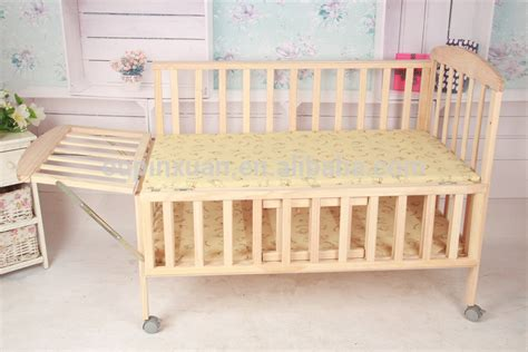 bamboo baby crib quality baby bed adjustable moveable folding wood
