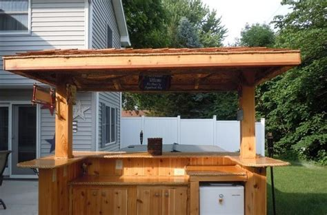 backyard bar designs pin by michael kendlick on backyard tiki bar pinterest