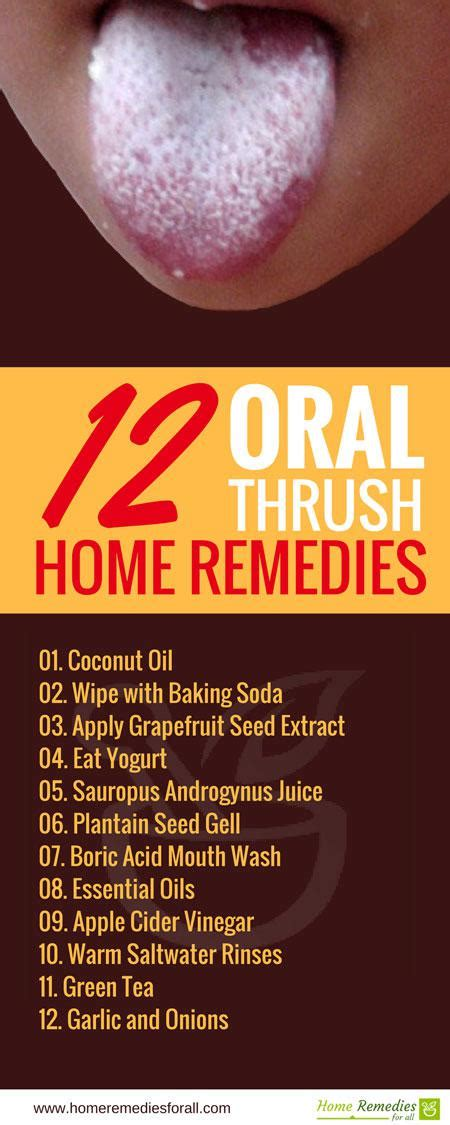12 remedies for thrush