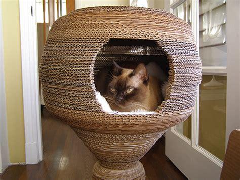 diy cardboard cat house diy cardboard cat cocoon hauspanther
