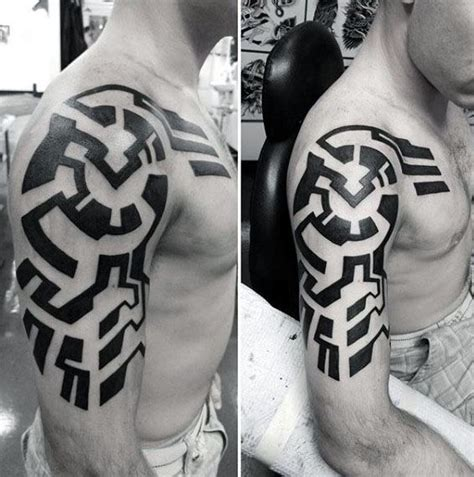 modern tribal tattoos 75 tribal arm tattoos for interwoven line design ideas