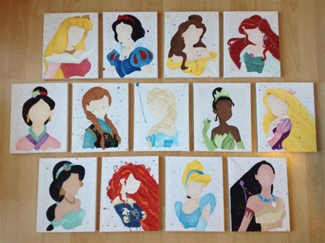disney princess painting free 25 best ideas about disney canvas paintings on
