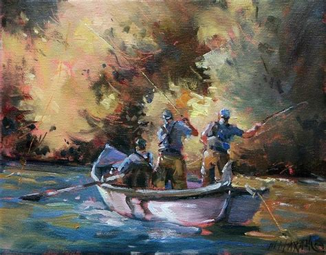 3 man in a boat mary maxam paintings three men in a boat fall fly fishing