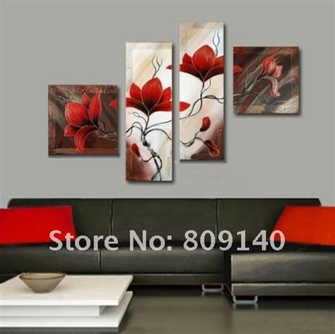 modern home red wall painting ideas wall art designs modern canvas wall art oil painting