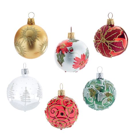 happy holidays christmas ornaments set of 6 gump s