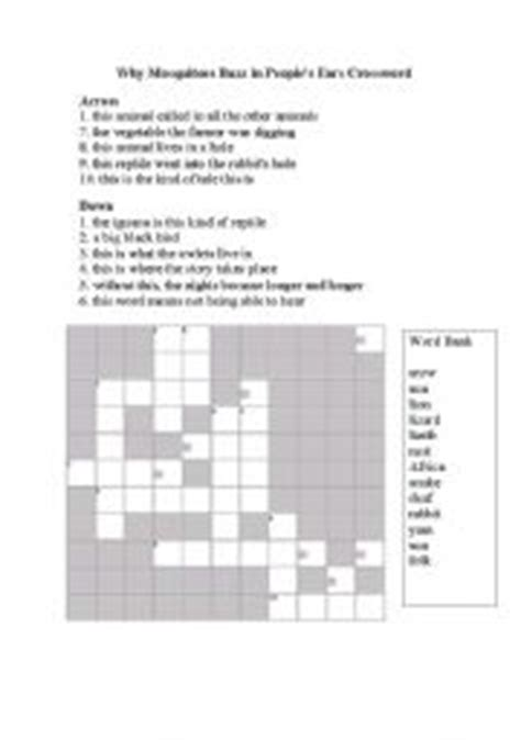 printable ear puzzle english worksheets why mosquitoes buzz in people 180 s ears