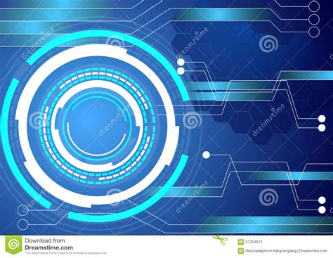 technology colors digital circuit technology blue background stock vector
