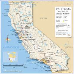 Reference Map of California, USA - Nations Online Project California