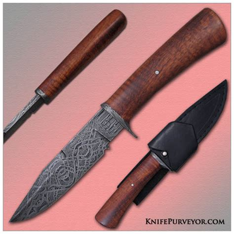 Tom Handcrafted Knives - tom ferry s custom knife koa wood fighter knifepurveyor