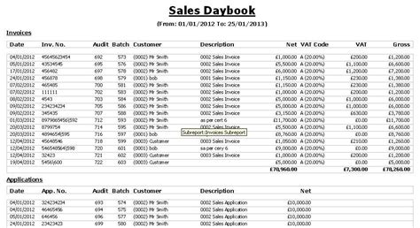 daybook template construction industry accounts cia software reports