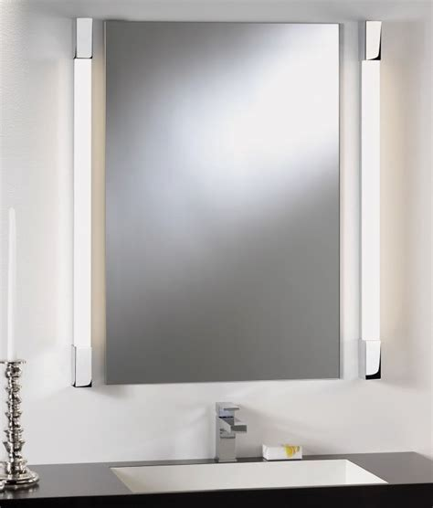 bathroom mirror with lights around it over mirror light square edges