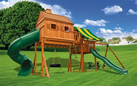 swing house fantasy tree house playset 2 fantasy tree house swing set 2