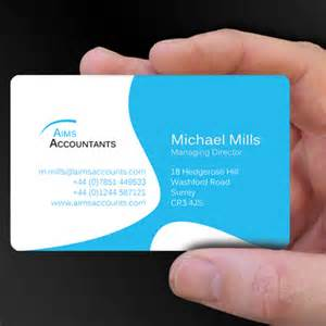 accounting business cards design plastic card designs of the week