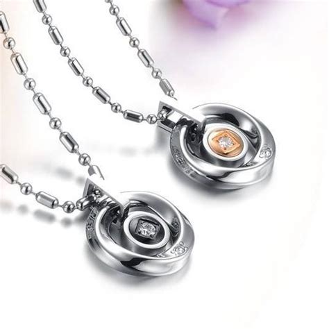 Kalung Baja Putih Anti Karat 4mm kalung necklace cincin titanium