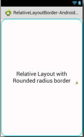 android layout corner radius set rounded corner radius border to relativelayout android