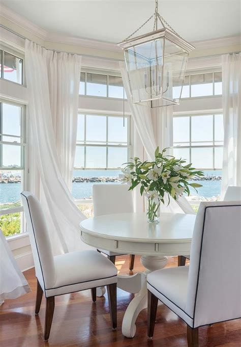 beach cottage curtains bay window breakfast nook cottage dining room kate
