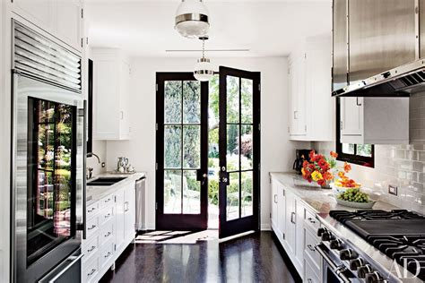 kitchen backsplash with patio doors 9 beautiful black and white kitchens from the ad archives
