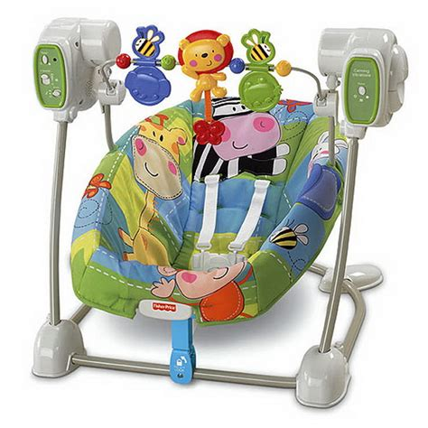 space saving baby swing cute and colorful baby swings stylish eve