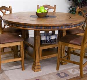 round dining table set with lazy susan gallery
