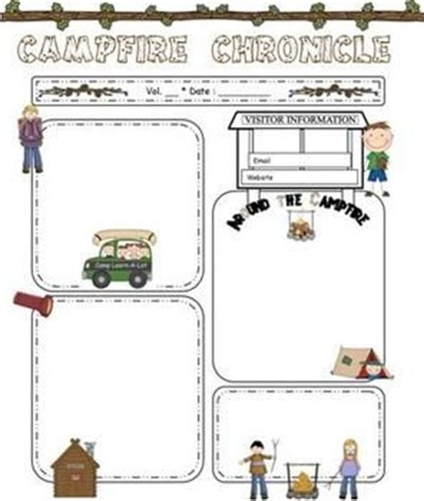 camping theme editable newsletter template word file