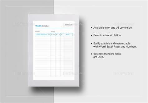 agenda template for apple pages weekly schedule template in word excel apple pages numbers
