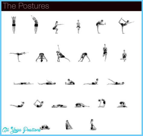 printable bikram yoga pose chart bikram yoga poses chart all yoga positions