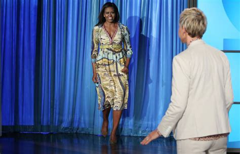 Political Fashion Obamas Dress by Obama In Gucci On Quot The Degeneres Show