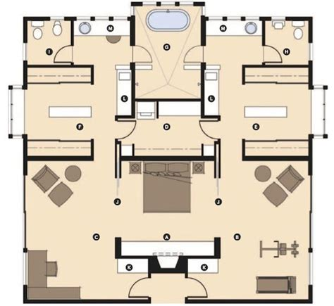 master bedroom suite layouts the master wing of this house is laid out to provide his