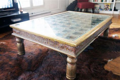 table indienne table basse unique