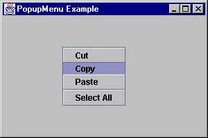 java swing popup menu swing part i short course